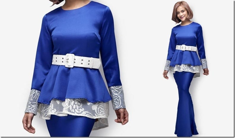 royal-blue-modern-peplum-kurung