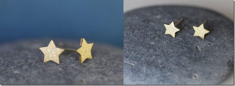 shimmery-gold-star-earrings