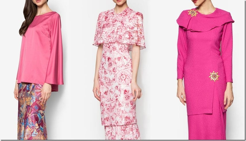 10 Baju Kurung Ideas In Shades Of PINK For Raya 2016 Party Dressing