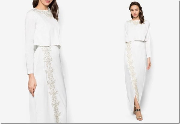 white-embroidered-double-layer-dress