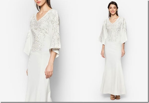 white-flared-sleeve-embroidered-mermaid-dress