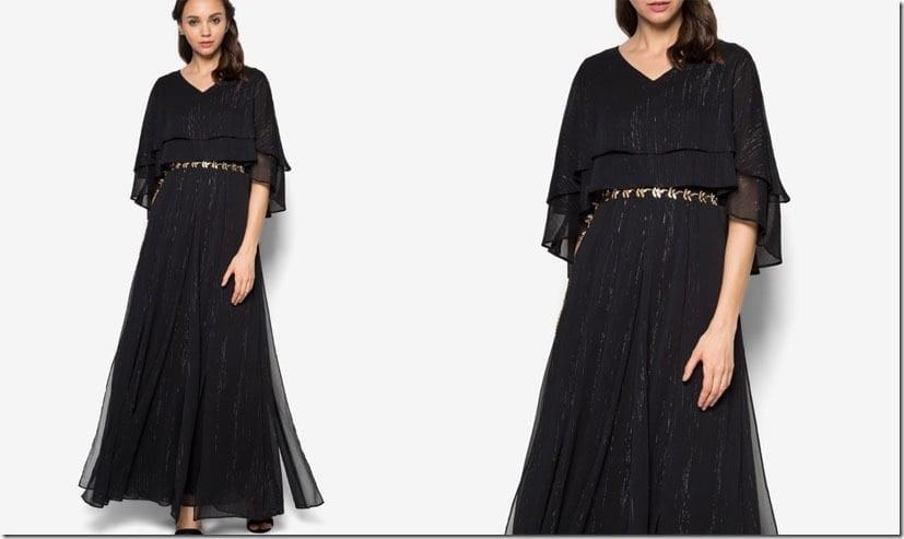 black-layered-cape-dress
