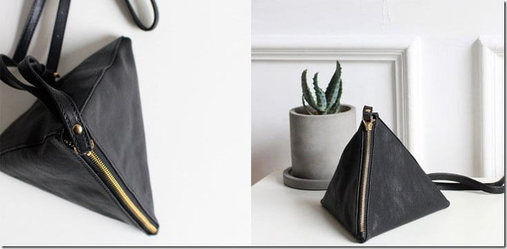black-triangle-leather-bag