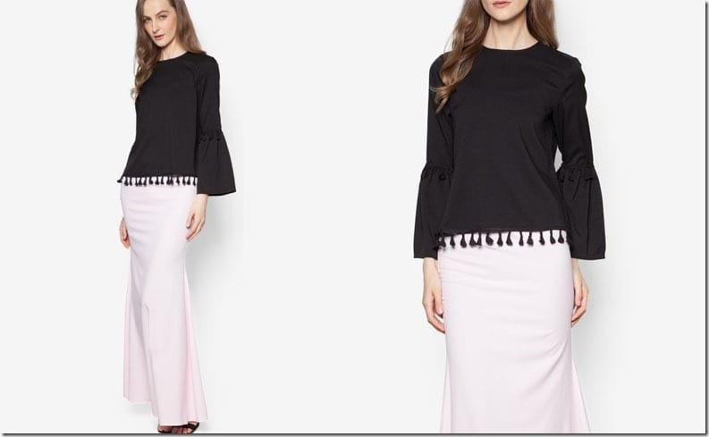 black-white-tassel-sleeve-kurung