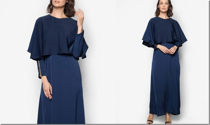 blue-maxi-cape-dress