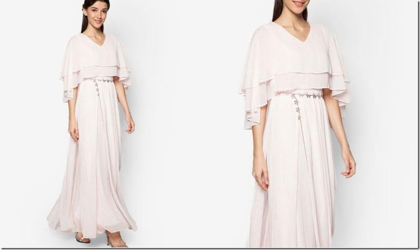 blush-layered-cape-dress