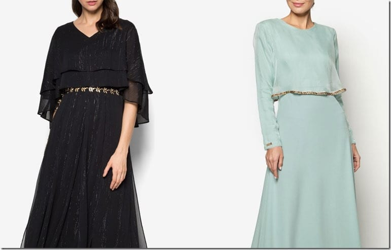 6 Elegant Maxi Cape Dress Ideas For Raya 2016