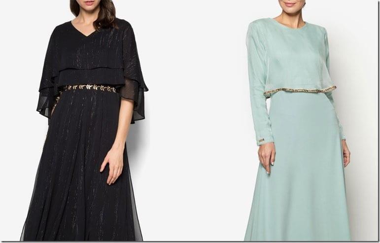 6 Elegant Maxi Cape Dress Ideas For Raya 2016