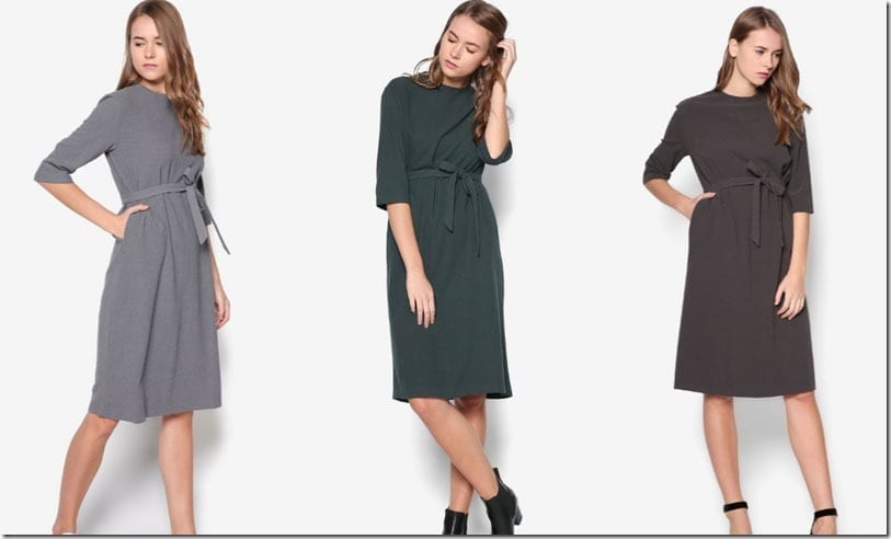 5 Minimal Midi Shift Dress Ideas