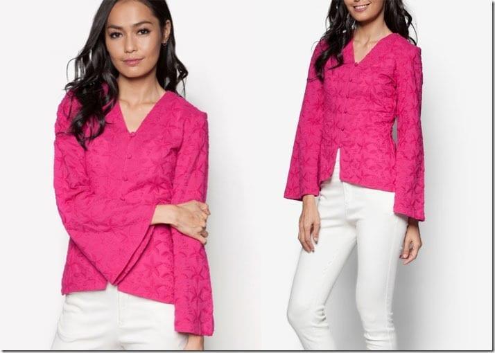 fuchsia-pink-kebaya-top