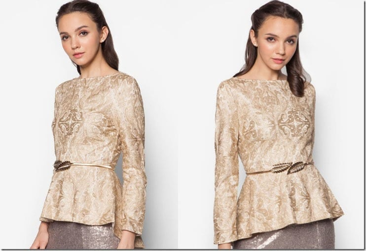 gold-metallic-dip-hem-lace-peplum-top