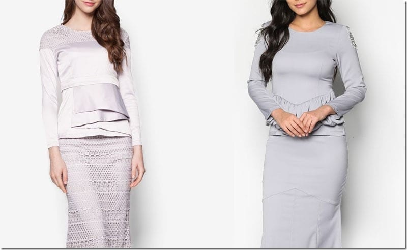 GREY Modern Baju Kurung Ideas For Raya 2016