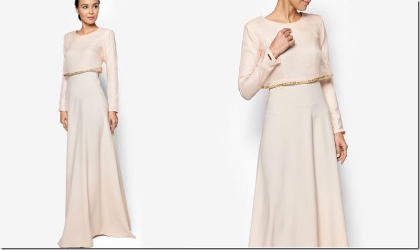 light-peach-cape-dress