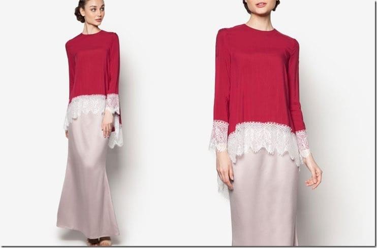 maroon-brown-lace-kurung