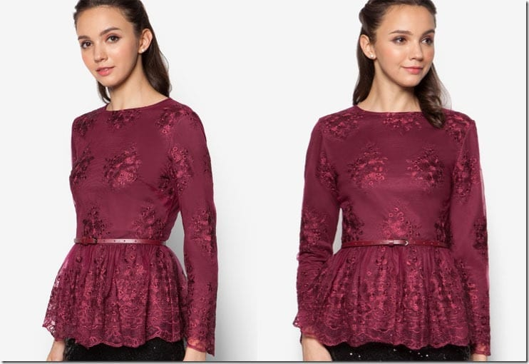 maroon-lace-peplum-top