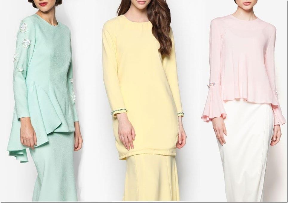 7 Sweetest Pastel Mod Kurung Ideas For Your Eid 2016 Wardrobe
