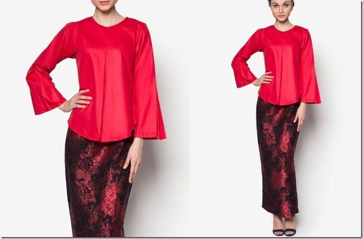 red-songket-inspired-kurung