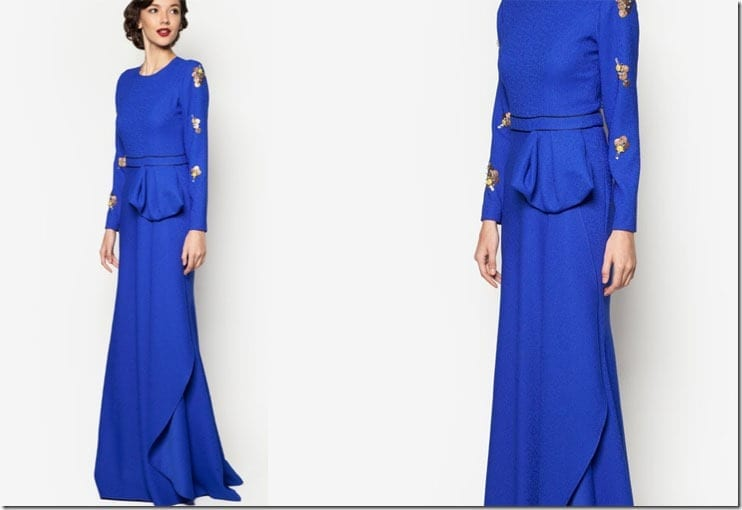 royal-blue-side-ruffle-dress