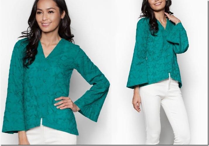 turquoise-short-kebaya-top