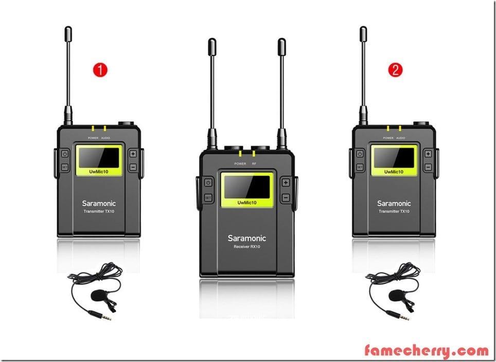 Saramonic UwMic 10 Malaysia ( 2 Transmitters + 1 Receiver )