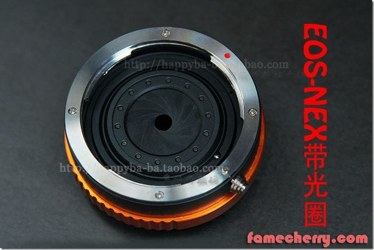 Canon ( EF ) - Nex Adapter ( With Aperture Control ) ( EF - Nex ) Malaysia