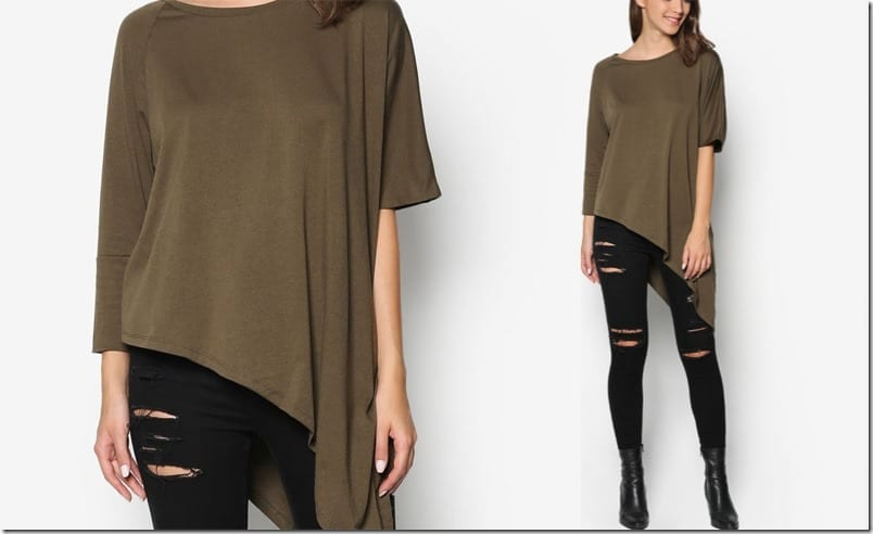 army-green-asymmetric-top