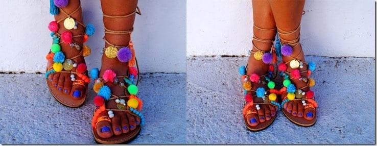 beaded-pompom-gladiator-sandals