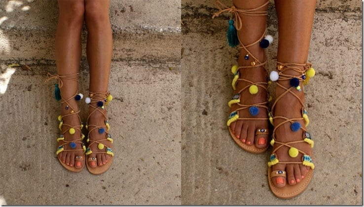 boho-embellished-pompom-sandals