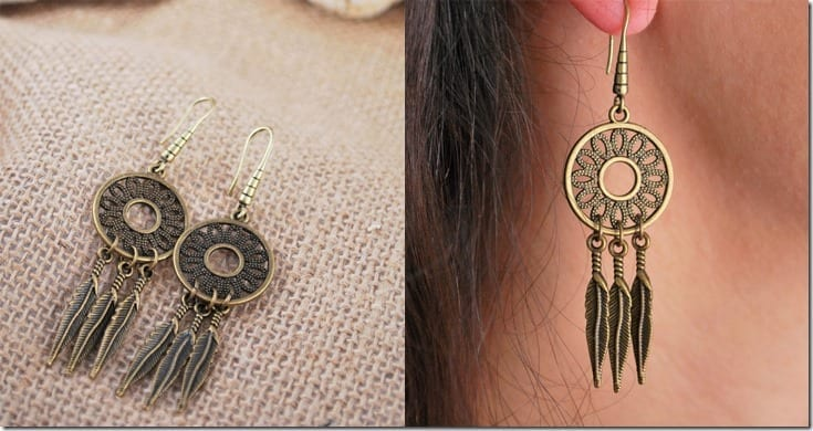 bronze-boho-dreamcatcher-earrings