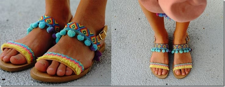 colorful-pompom-fringe-braid-sandals