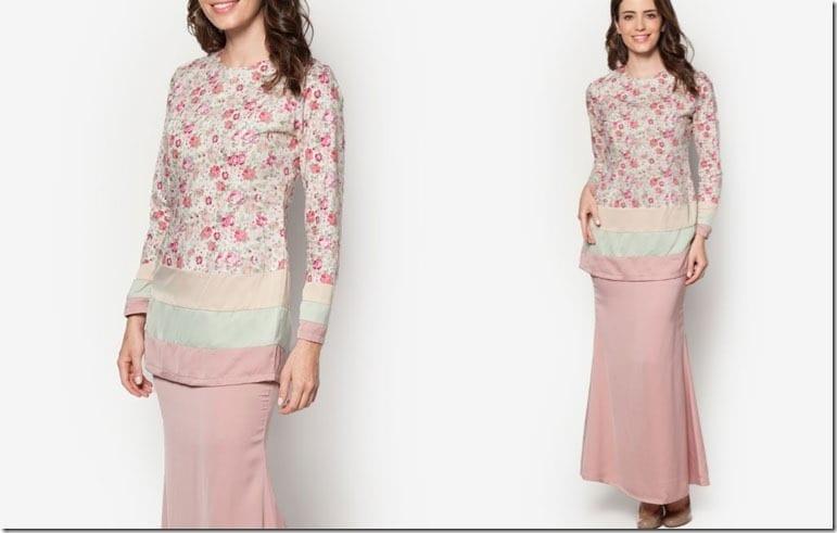 dusty-pink-floral-pastel-kurung