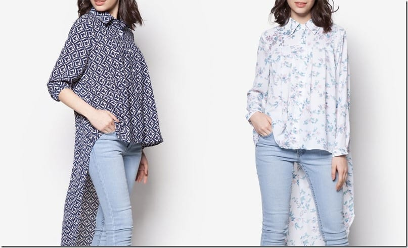 Blouse Statement ~ High Low Fishtail Top Style