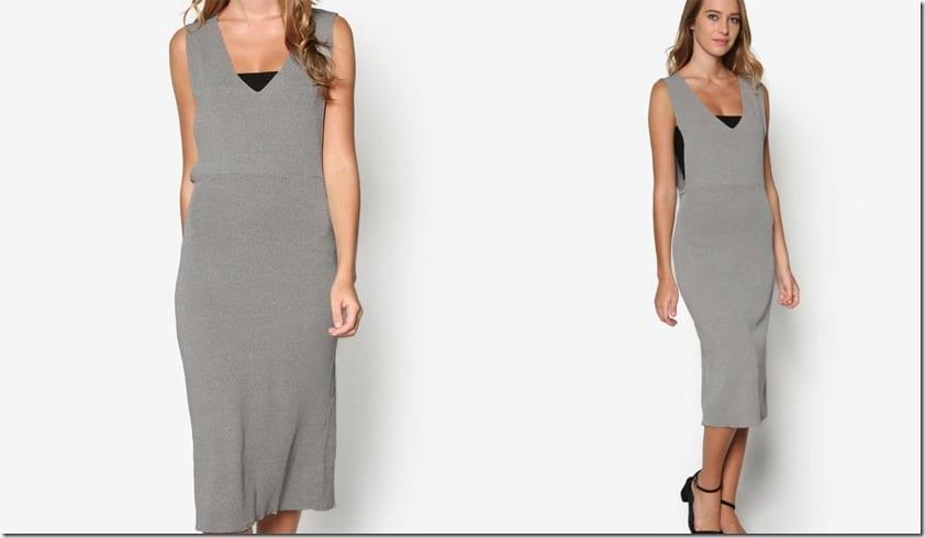 grey-deep-v-pinafore-dress