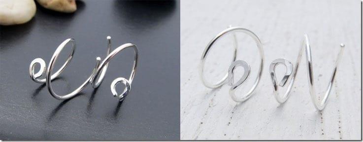 hammered-circle-ear-hugging-earrings