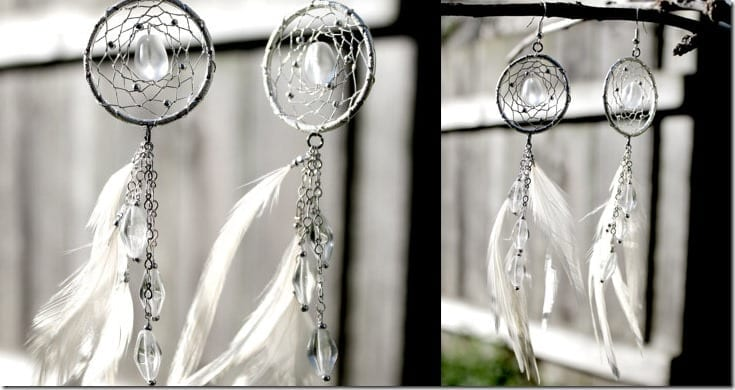 icy-white-feather-dreamcatcher-earrings