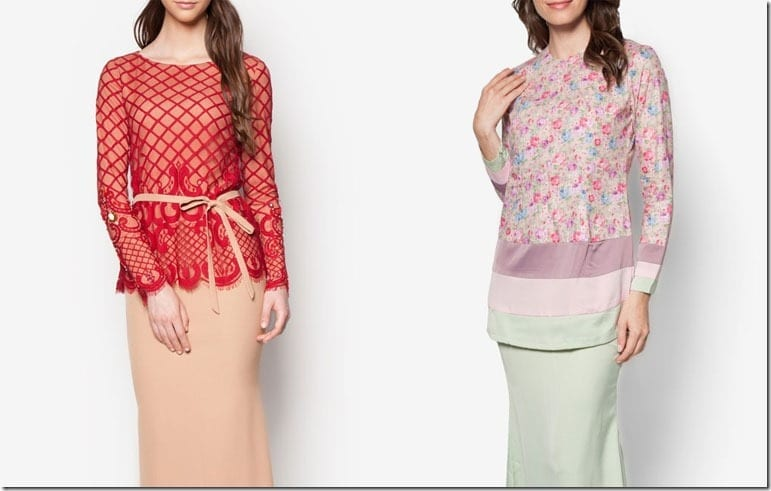 Statement Lace Gown + Floral Pastel Kurung Ideas For Raya 2016