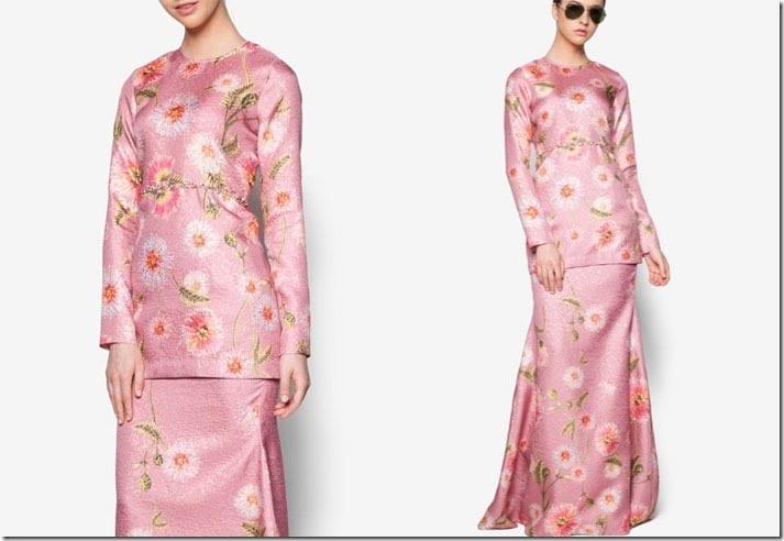 magenta-floral-beaded-kurung-modern