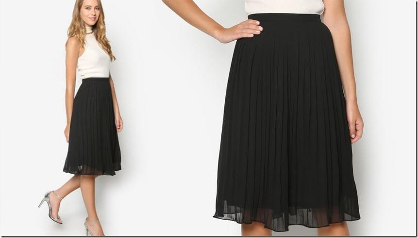 midi-black-pleated-skirt