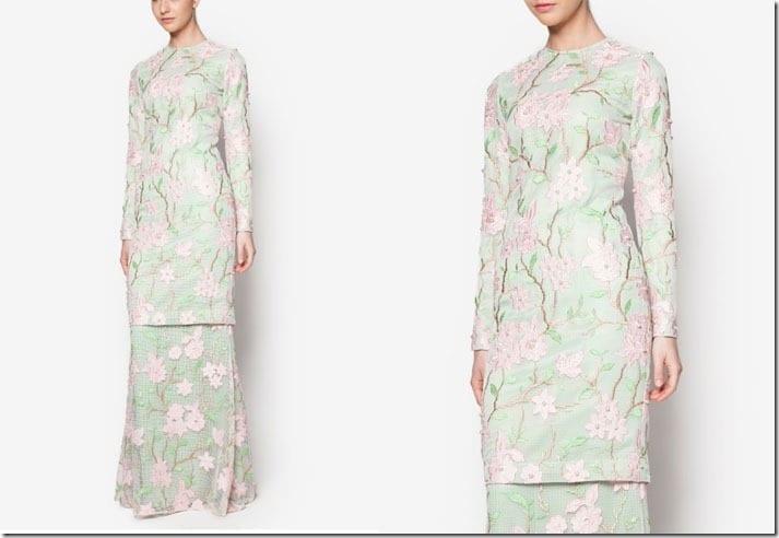 mint-floral-kurung-modern