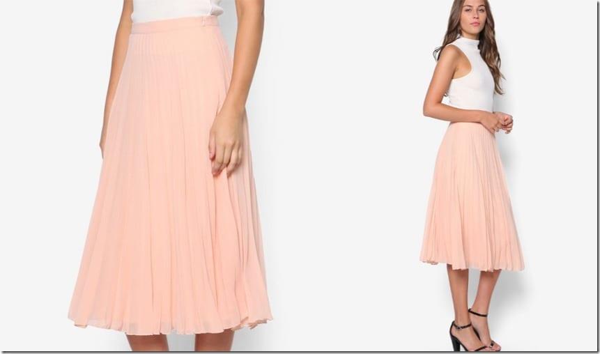 peach-midi-chiffon-pleated-skirt