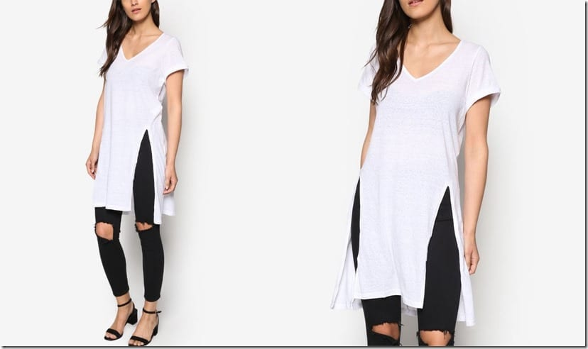 white-long-tee-side-slits