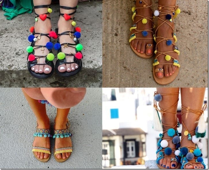 Statement Footwear ~ Would You Wear Pom Pom Sandals?