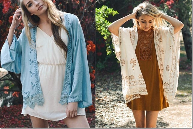 5 Breezy Kimono Cardigan Styles To Wear For A Minimal Boho Flair