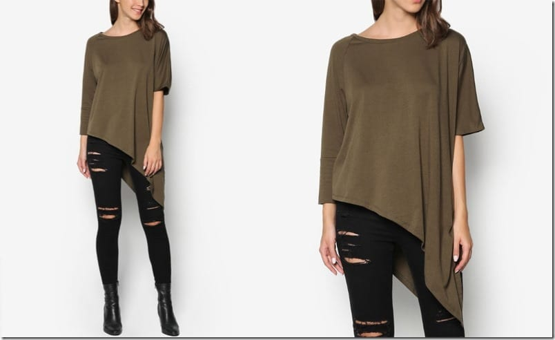 army-green-asymmetrical-top