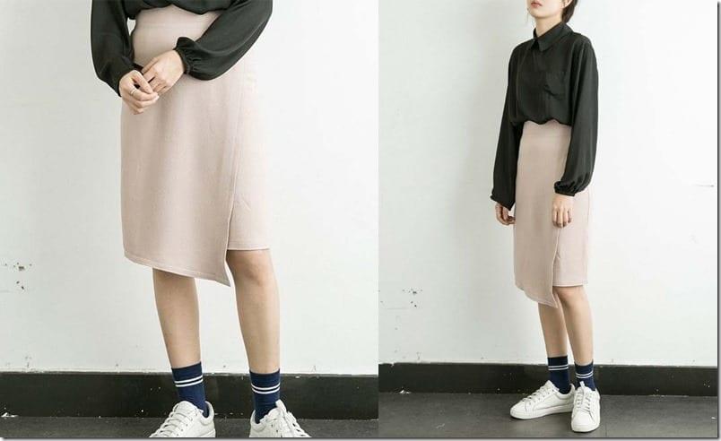beige-asymmetric-wrap-skirt