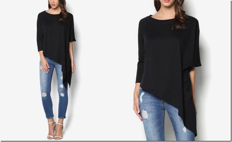black-asymmetric-drape-top