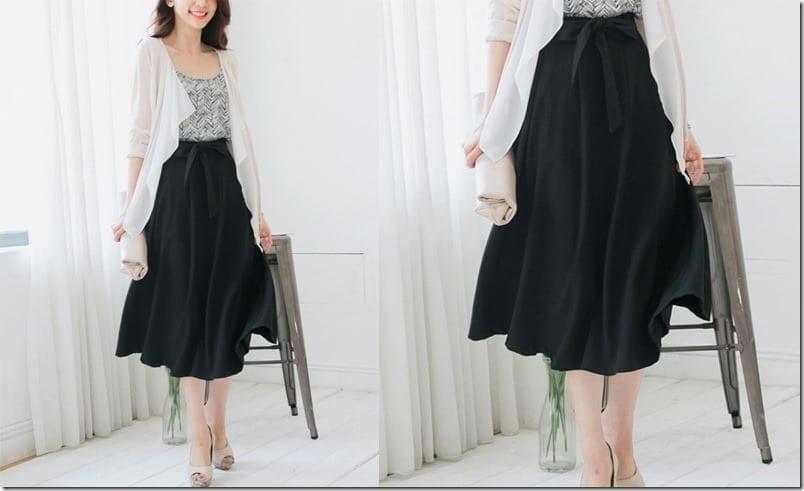 black-chiffon-sash-midi-skirt