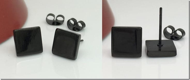 black-geometric-square-stud-earrings