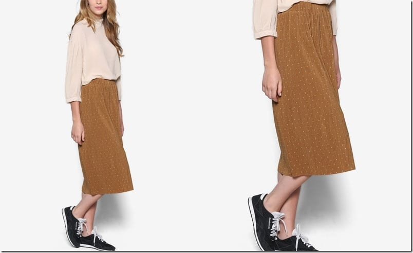 earthy-dotted-midi-skirt
