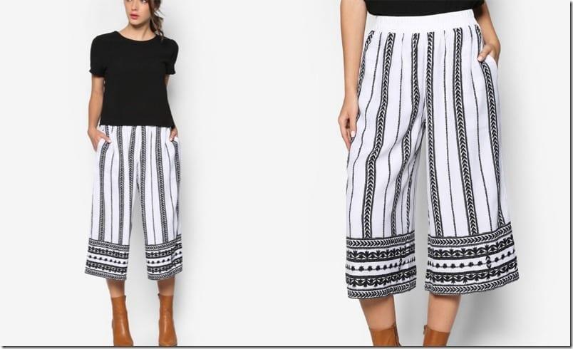 flowy-monochrome-print-culottes